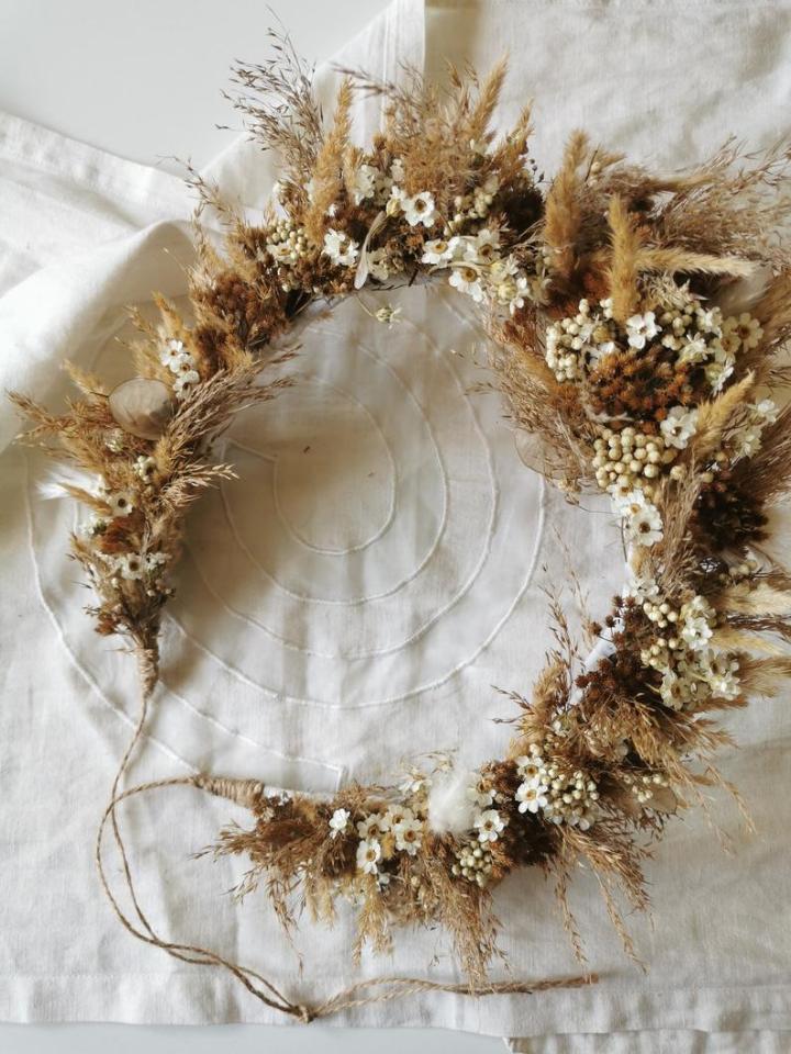Gli accessori da sposa Ghirlanda secca per capelli Fioriditesta
