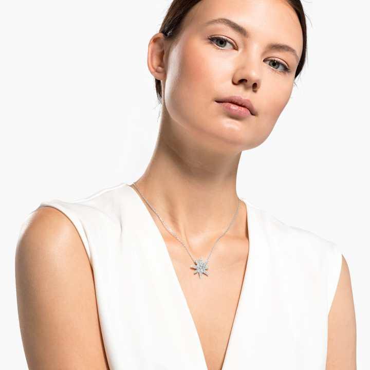 Gli accessori da sposa pendente-edelweiss-swarovski